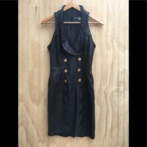 Vintage leather dress 80's Michael Hoban S